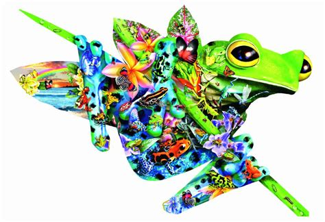 jigsaw puzzles paradise frogs 1000 piece shaped puzzle