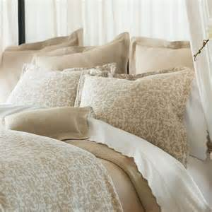 Peacock Alley Duvet Cover Beige And White Bedding Products For Creating Warm And