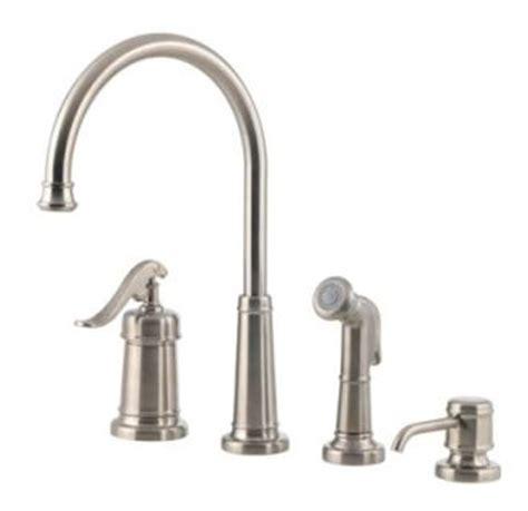 pfister gt26 4ypk ashfield 4 hole kitchen faucet with pfister lg26 4ypk brushed nickel ashfield kitchen faucet