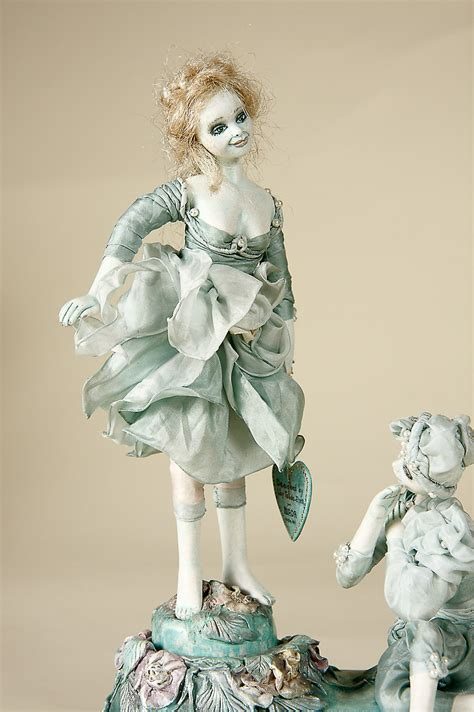 sea foam dancers musical paperclay art doll  lilian