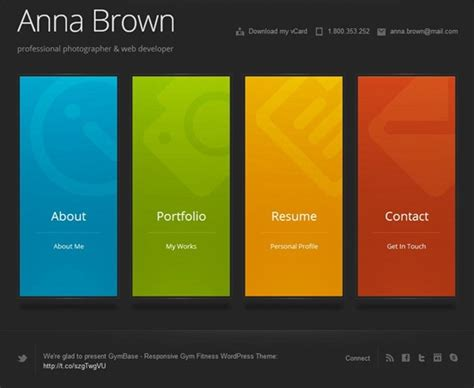 templates per curriculum e per il vostro portfolio online