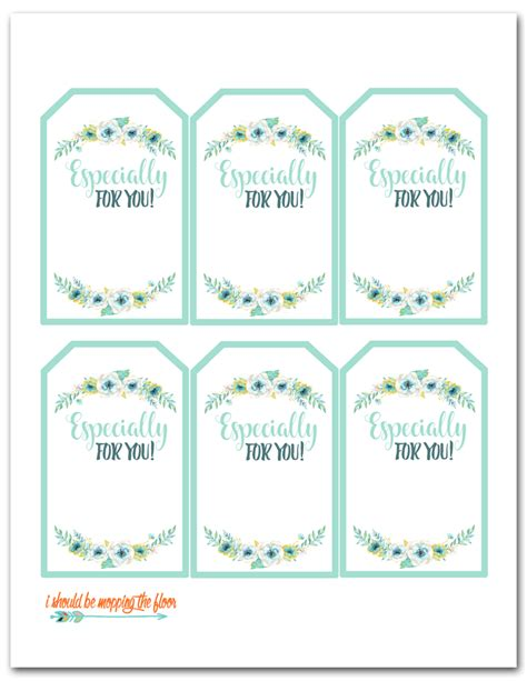 printable letter gift tags i should be mopping the floor free printable floral gift tags