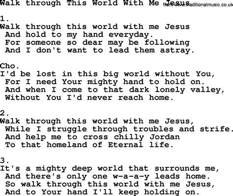 Walk This World walk through this world with me jesus apostolic and