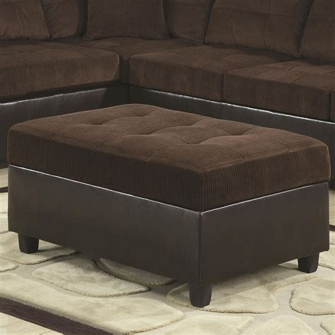 brown fabric ottoman coaster 503014 brown fabric ottoman steal a sofa