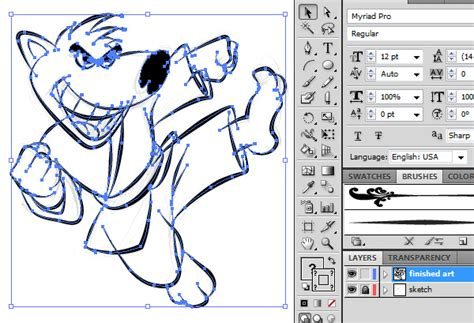 how to make doodle in illustrator ultimate inking and coloring tutorial for adobe
