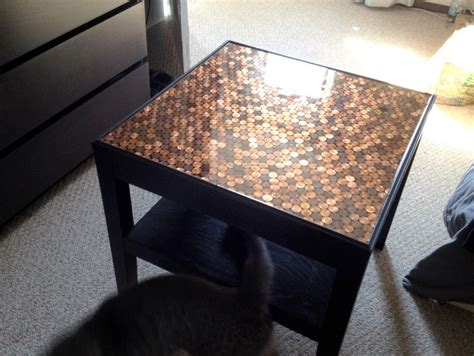 Diy Coffee Table Top Give Your Coffee Table A Makeover Using Pennies The