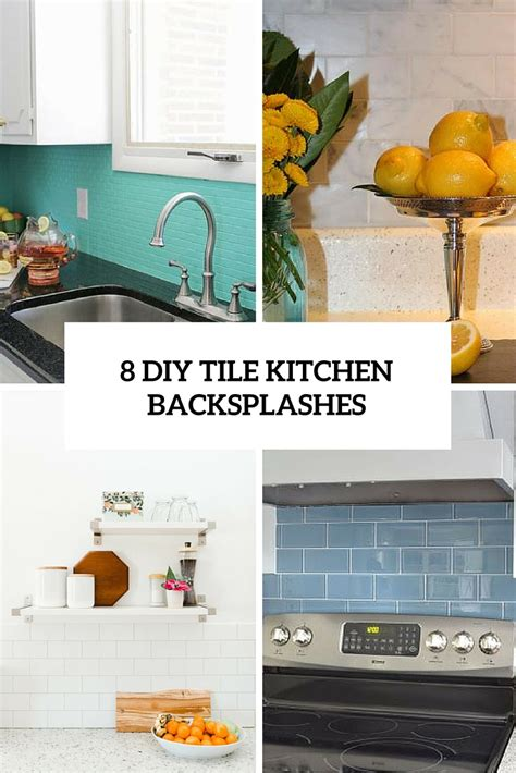 diy tile backsplash kitchen diy decorative items archives shelterness