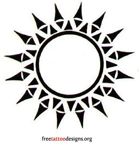 45 amazing tribal sun tattoos ideas and designs