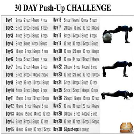 30 day push up challenge healthy workout plan