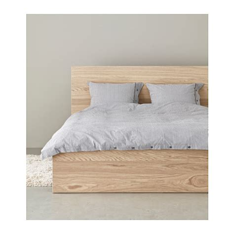 ikea malm bed frame malm bed frame high white stained oak veneer lur 246 y standard double ikea