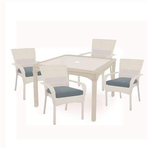 Martha Stewart Living Charlottetown White 5 Piece All Martha Stewart Patio Dining Set