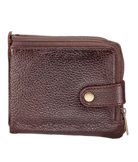 rugged wallet walletsnbags rugged brown zipper wallet buy at low price in india snapdeal