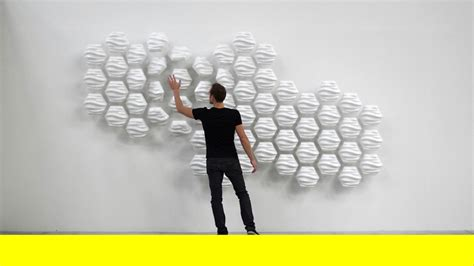 designboom vimeo responsive hexi wall fluctuates based on nearby movements