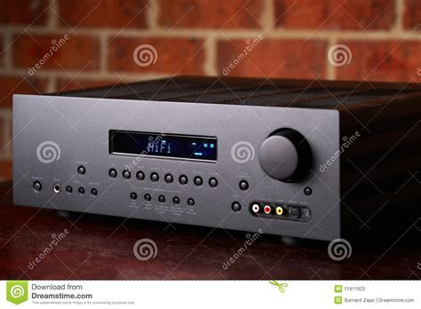 home theatre amplifier stock  image