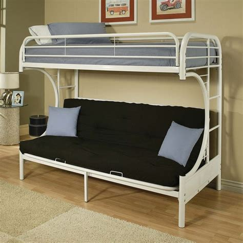 Bunk Beds Deals Eclipse White Futon Bunk Bed Overstock Shopping Great Deals On Beds