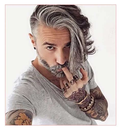 Hairstyles For Thick Grey Hair | mens long hairstyles thick straight hair along with cool