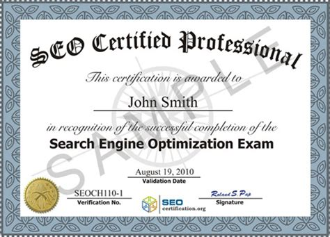 certificate of certification template search engine optimization seo certification and