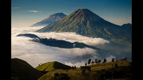 pemandangan gunung sumbing sindoro  berbagai tempat