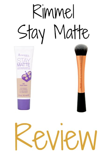 Rimmel Stay Matte Foundation Review rimmel stay matte foundation review southeast by midwest