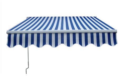 sunnc awning patio manual retractable awning canopy sun shade shelter blue white 3 5m x 2 5m ebay