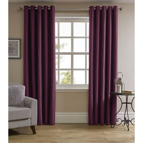 curtains plum wilko waffle weave eyelet lined curtains plum 228x228cm at