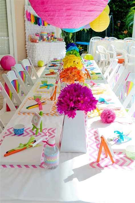 art themed events a bright and trendy chevron arts and crafts party anders
