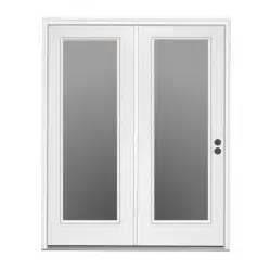 Steel Patio Doors by Shop Reliabilt 71 5 In 1 Lite Glass Steel Center Hinged