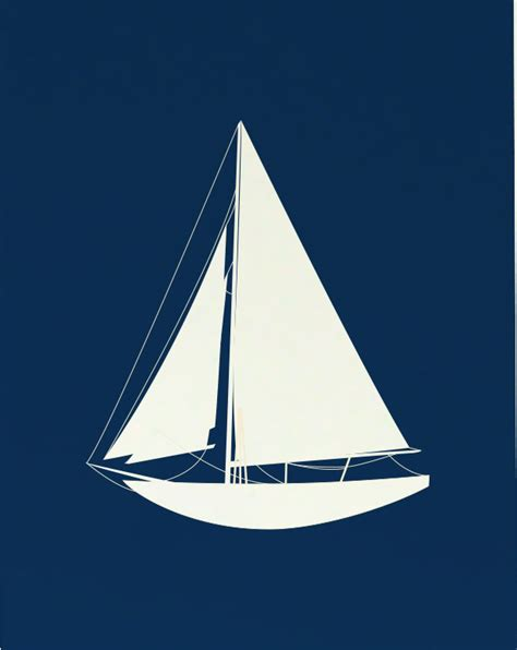Sculpture Home Decor by District17 Sailing Sailboat Art Print Posters Amp Prints