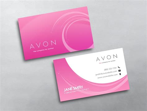 free avon business card template downloads avon business card 24