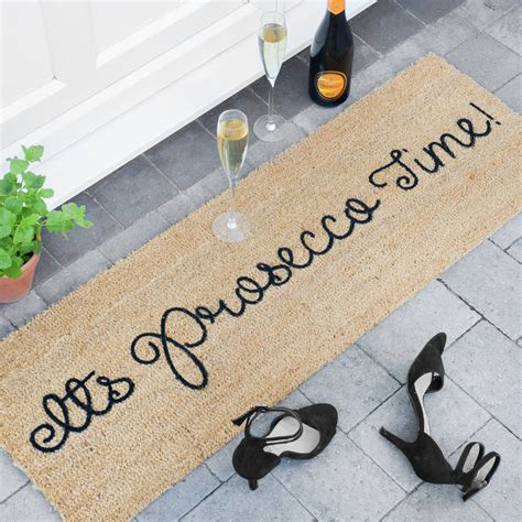 Patio Door Mats Its Prosecco Time Patio Door Mat By Letteroom Notonthehighstreet