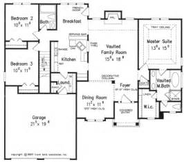 Floor Plans For Homes One Story One Story 40x50 Floor Plan Home Builders Single