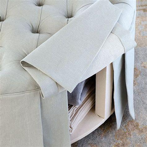 round tufted ottoman with skirt best 25 storage ottoman coffee table ideas on pinterest