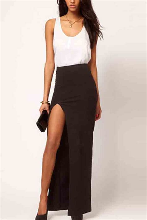 black side slit maxi skirt skirts maxi skirt pencil