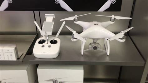 Drone Apple dji phantom 4 drone at the apple store 4k