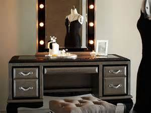 Vanity Mirror With Lights And Table Makeup Vanity Table With Lights And Mirror Home Design Ideas