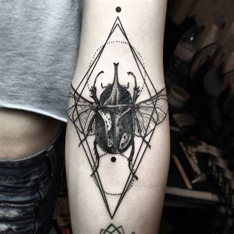 black line tattoos geometric tattoos that combine lines and nature