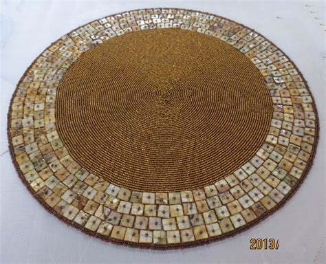 Handmade Table Mats - placemats beaded accessories luxury handmade