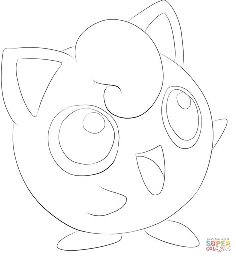 pokemon coloring pages jigglypuff jigglypuff coloring page free printable coloring pages