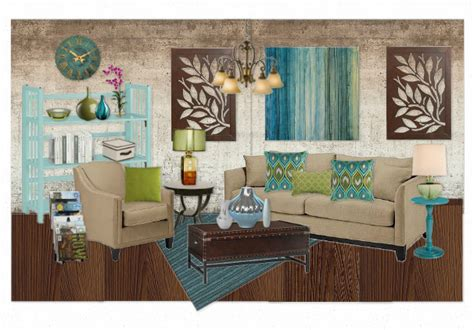 teal and green living room blue green living room by krystalstudio olioboard