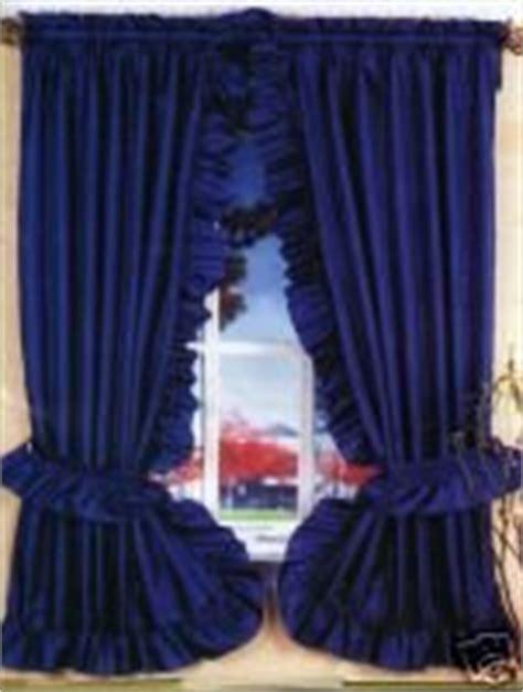 Com Navy Blue Ruffled Priscilla Fabric Window