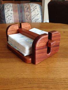 napkin holder   mahogany small wood projects