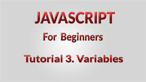 javascript tutorial with exles for beginners javascript tutorial for beginner 3 variables youtube