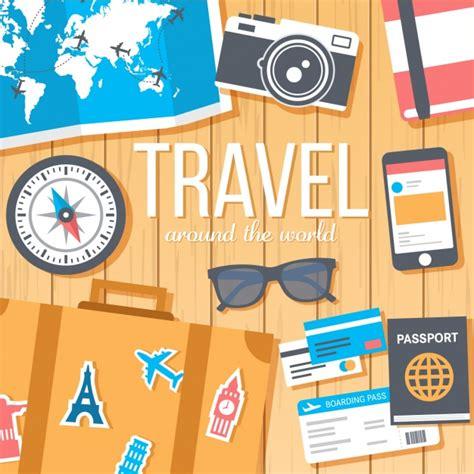 para design travel background design vector free
