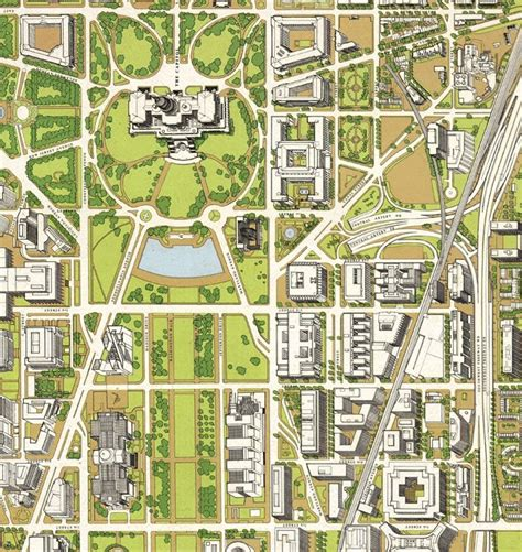 Birds Eye View Map Of House by Map Of Washington City Birdseye View Maps And
