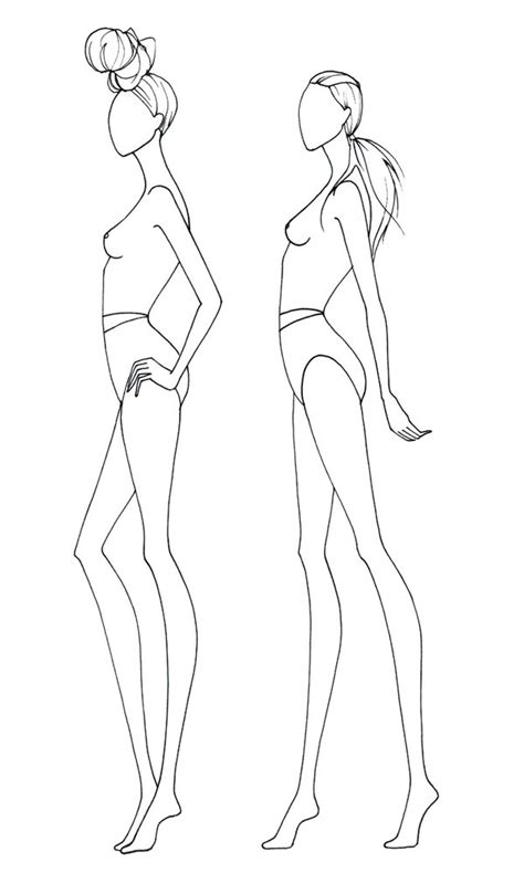 the gallery for gt female fashion figure templates front