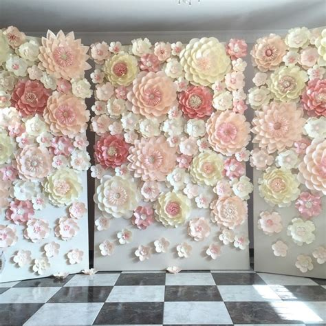 How To Make Paper Flower Backdrop - 25 b 228 sta paper flower backdrop id 233 erna p 229