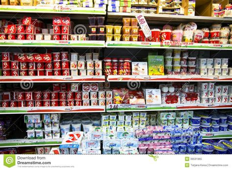Foods With Shelf by Shelves With Foods In Supermarket Editorial Image Image