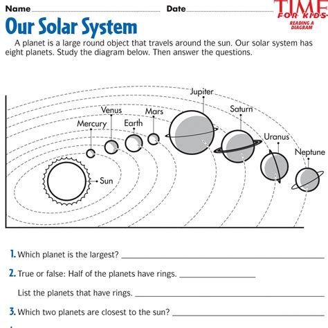 space printable activity sheets space printables time for kids third grade