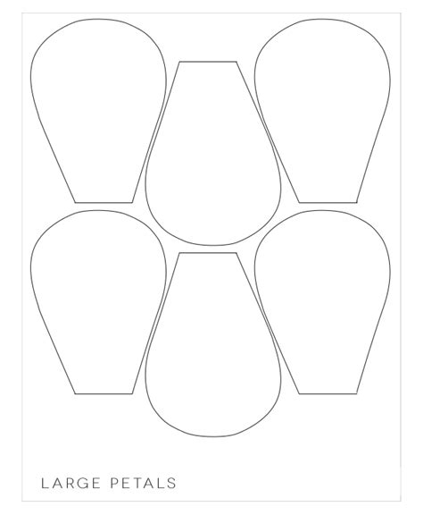 big flower template printable paper flower petal templates flowers ideas
