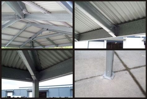 gable frame design exle the inside steel structure of our dutch gable carport